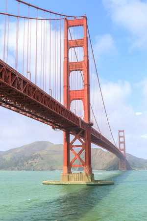 View of the Golden Gate Bridge from Fort Point. San Francisco, California, USA.