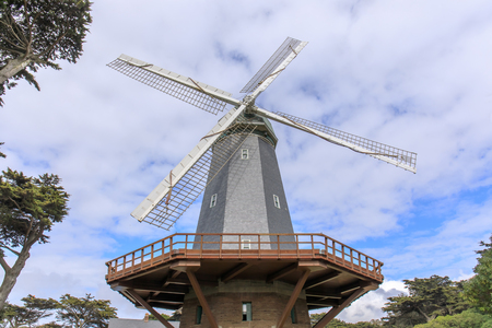 Murphy Windmill (South Windmill) in the Golden Gate Park in San Francisco, California, USA.