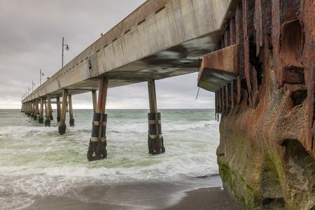 Under Pacifica Municipal Pier. Pacifica, San Mateo County, California, USA.