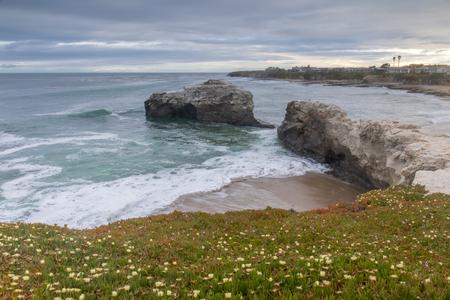 Sunset over Natural Bridges State Beach. Santa Cruz, California, USA. Stock Photo