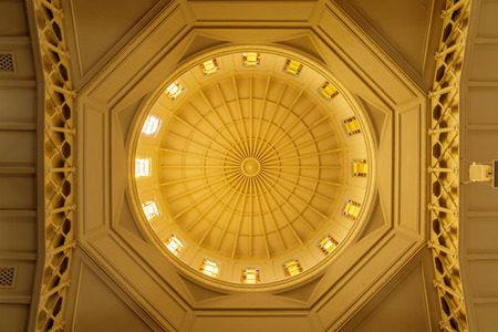 Oakland, California - September 30, 2018: Temple Sinai Reform Synagogue Dome. Founded in 1875, it is the oldest Jewish congregation in the East San Francisco Bay region. Editorial