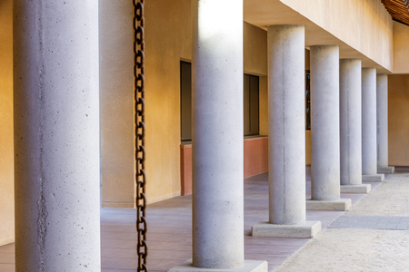 Schwab Residential Center Colonnade. Stanford University, Santa Clara County, California, USA.