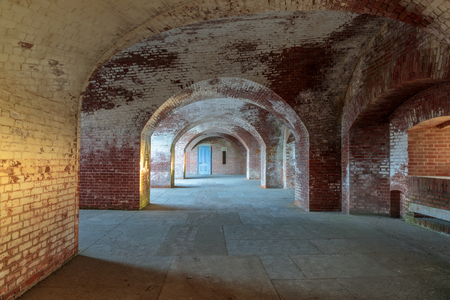 Corridors of Fort Point National Historic Site. San Francisco, California, USA.