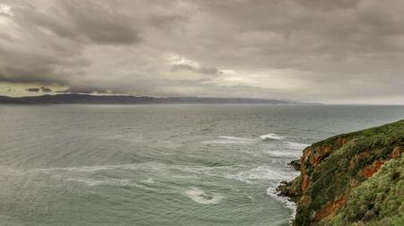 Winter storm over Drakes Bay. Point Reyes National Seashore, Marin County, California, USA.