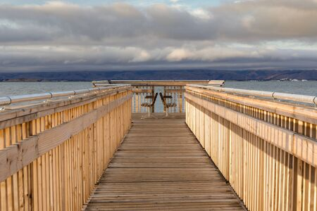 The new boardwalk at Baylands Nature Preserve. Palo Alto, Santa Clara County, California, USA. Reklamní fotografie