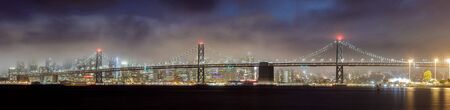 Foggy skies over San Francisco Waterfront. Middle Harbor Shoreline Park, Oakland, California, USA. Reklamní fotografie