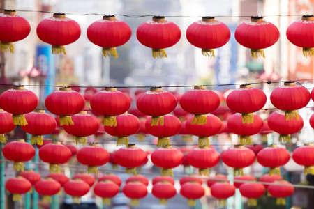 Sky Lanterns. Chinatown, San Francisco, California, USA.