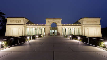 San Francisco, California - July 1, 2020: Legion of Honor Museum in San Francisco at Night.