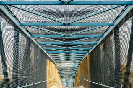 Stevens Creek Trail Bridge (AKA Central Expressway Bridge), A Pedestrian - Bike Bridge in Mountain View, California.