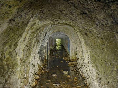 Abandoned Ocean Shore Railroad Creek Tunnel in Davenport, California