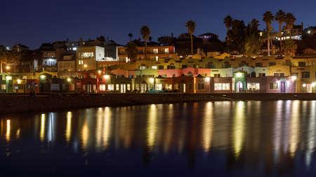 Blue Hour over Capitola Village. Capitola, Santa Cruz County, California, USA.