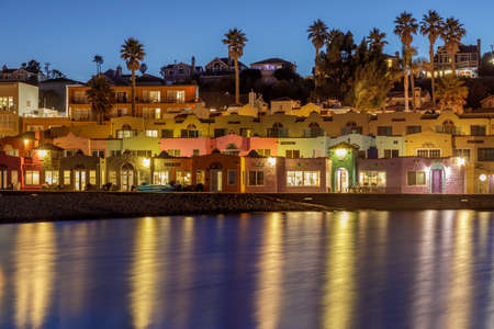 Twilight Skies over Capitola Village. Capitola, Santa Cruz County, California, USA.