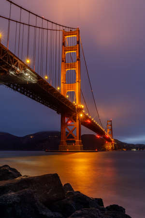 Golden Gate Bridge Glows and Reflects Summer Foggy Skies, via Fort Point.