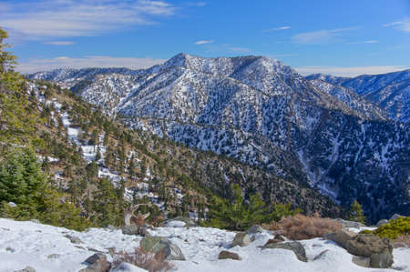 Mt Baldy, officialy knows as Mt San Antonio, the highest point in San Gavriel Mountains of San Bernardino County in Southern California