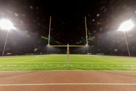 American Football Stadium At Night