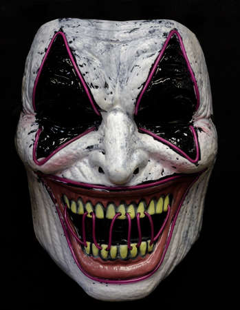 Laugh Riot Mask Isolated Against Black Background