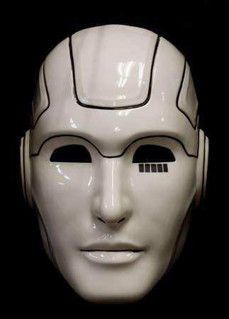 Face Mask Isolated Against Black Background