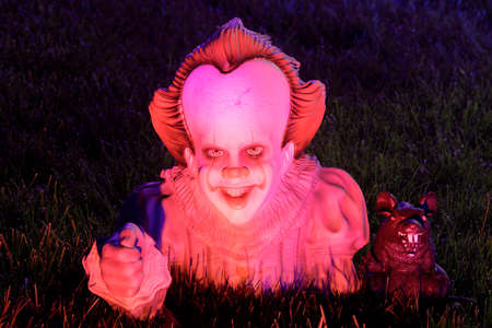 San Jose, California - October 24, 2020: Pennywise The Clown from the movie It by Stephen King Редакционное