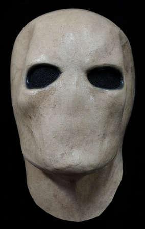 Silent Stalker Face Mask Isolated Against Black Background