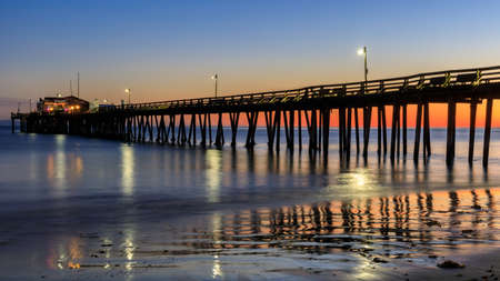 Capitola Wharf in Blue Hour. Capitola, Santa Cruz County, California, USA.