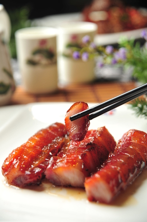 barbecued: asian chinese style delicious food