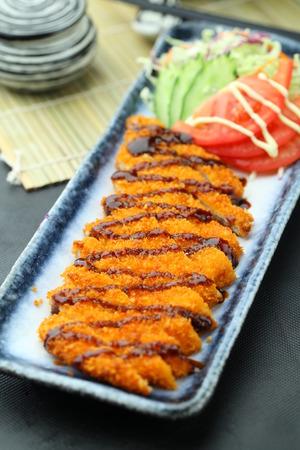 chicken chop: deep fried chicken chop Stock Photo