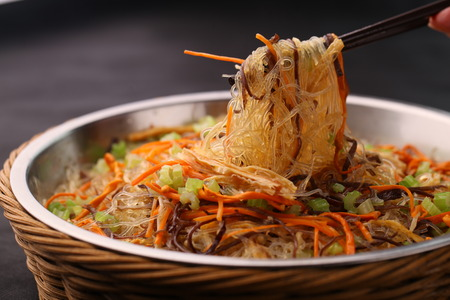 Asian Chinese cuisine, delicious food Stock Photo