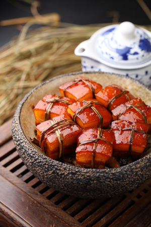 dongpo: Delicious Chinese style cuisine Stock Photo