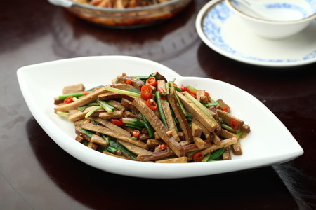 chives: stir Chives with bean curd