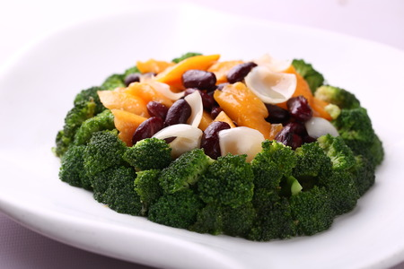 fruity: fruity beans with broccoli Stock Photo