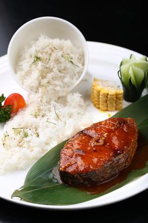 taste: Fish taste bibimbap Stock Photo