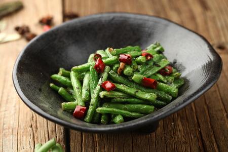long bean: stir fried long bean