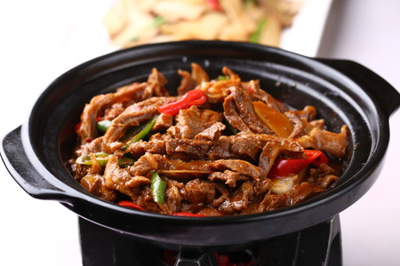must: Must taste sirloin claypot Stock Photo