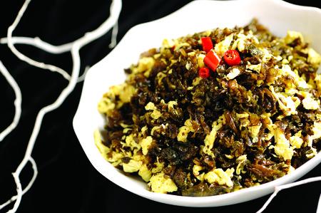scrambled: seaweed scrambled eggs Stock Photo