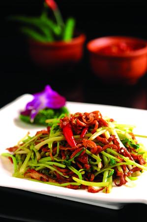 Intestinal fried cabbage Zdjęcie Seryjne