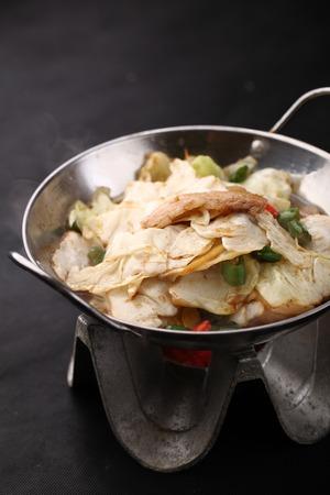griddle: Griddle Shredded cabbage Stock Photo