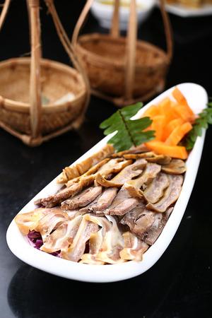 halogen: Vietnamese halogen platter Stock Photo