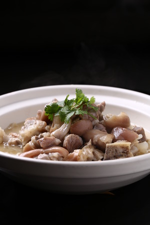 trotter: Trotter stew fresh mountain bamboo Stock Photo