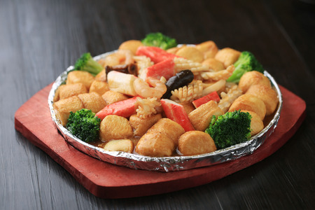 sizzling: Sizzling seafood Tofu