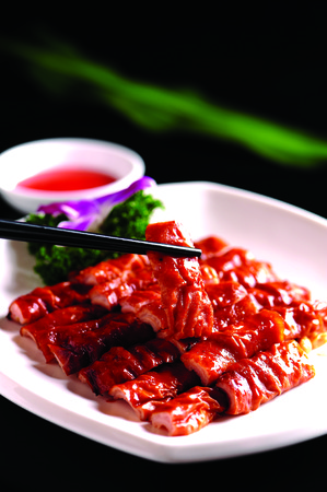intestino: delgado con salsa