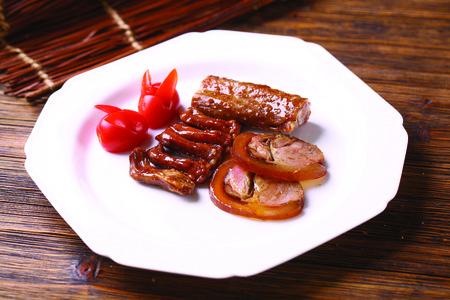 stewed: stewed duck platter