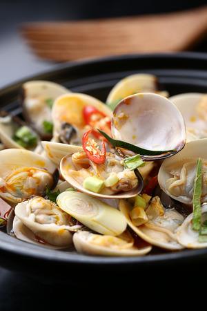 clams: Sour white clams Stock Photo