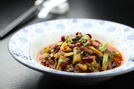 green beans: Sauerkraut braised green beans