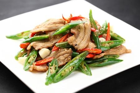 long beans: sliced pork fried with long beans