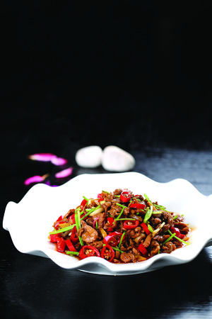 mutton: spicy fried Montenegro mutton