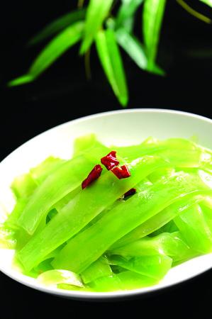 shoots: fried bamboo shoots Stock Photo