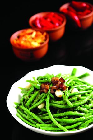 long beans: fried long beans