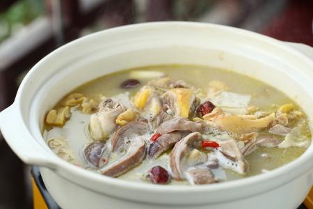 bellies: Pork bellies chicken pot
