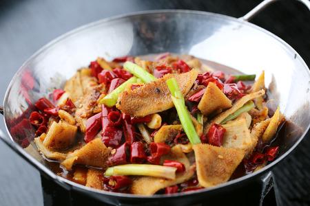 tripe: spicy fried tripe