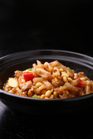 tendon: spicy fried tendon Stock Photo